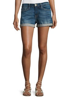 FRAME Le Cutoff Cuffed Denim Shorts