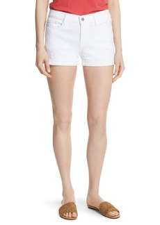 FRAME Le Cutoff Cuffed Jean Shorts (Blanc) (Nordstrom Exclusive)