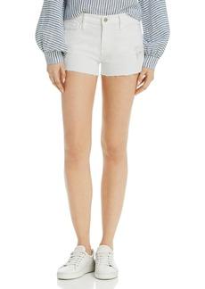 FRAME Le Cutoff Denim Shorts in Blanc Rookley