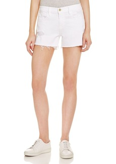 FRAME Le Cutoff Denim Shorts in Blanc Taffs