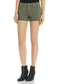FRAME Le Cutoff Frayed Denim Shorts