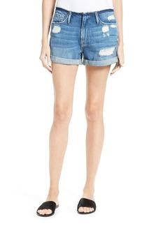 FRAME Le Cutoff Frayed Waist Cuffed Denim Shorts (Glenbarr)