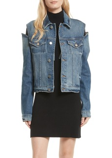 FRAME Le Cutout Denim Jacket (Burke)