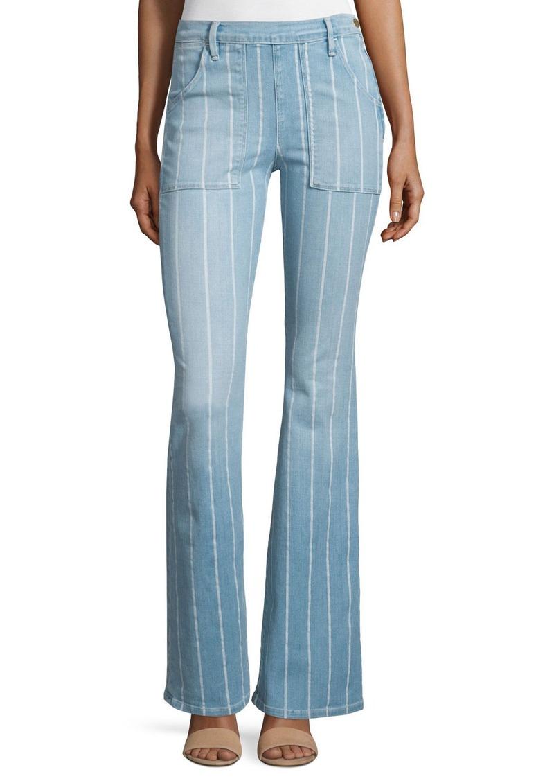 FRAME Le Flare de Francoise Striped Jeans