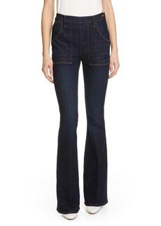 FRAME Le Flare de Françoise High Waist Flare Jeans (Queens Way)
