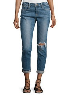 FRAME Le Garcon Distressed Cropped Jeans