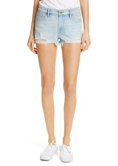 FRAME Le Garcon High Waist Cutoff Denim Shorts (Hurrah)
