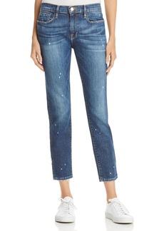 FRAME Le Garcon Zip Boyfriend Jeans in Marion