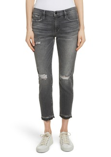 FRAME Le Garçon Ripped Released Hem Slim Jeans (Stockcross)