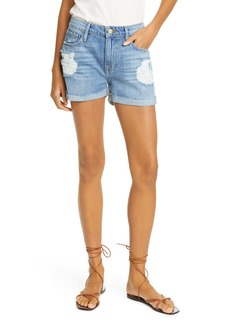 FRAME Le Grand Garcon Distressed High Waist Denim Shorts (Heron) (Nordstrom Exclusive)