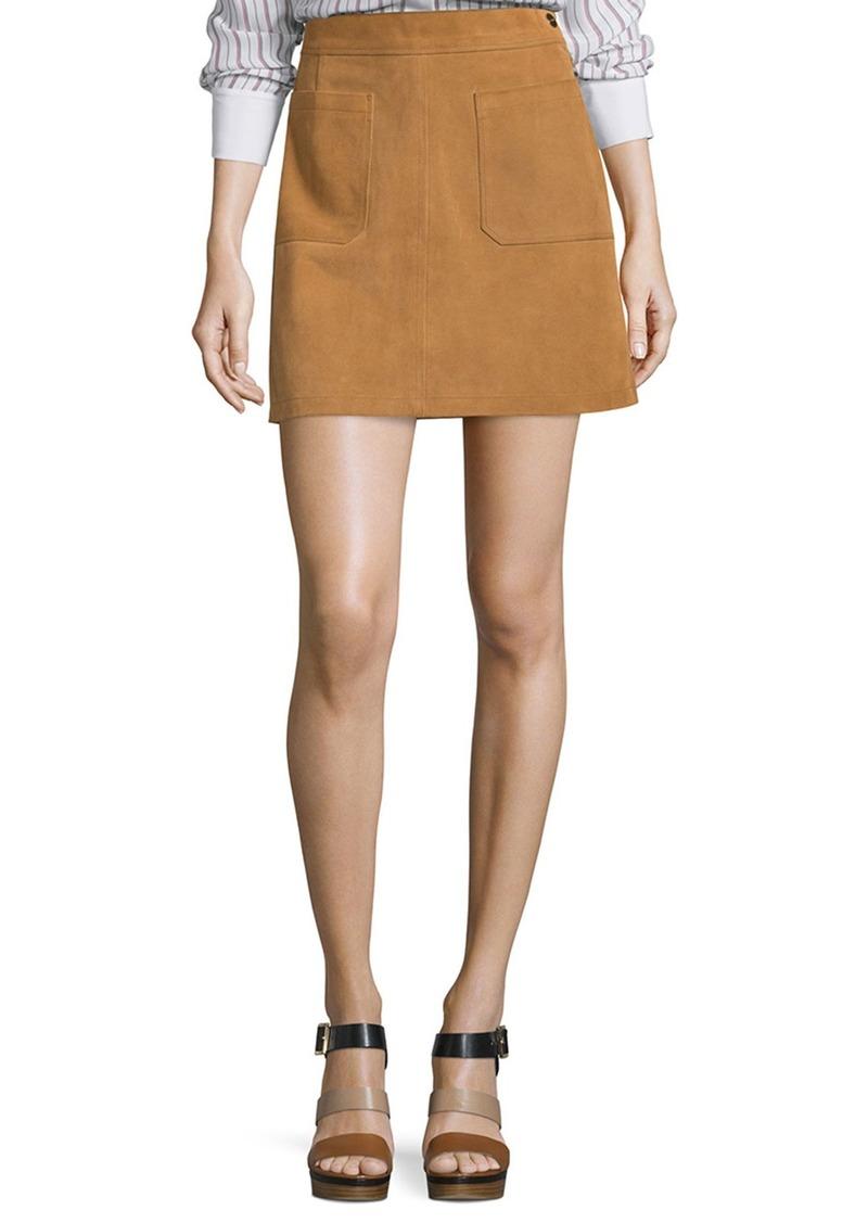 FRAME Le High A-Line Skirt