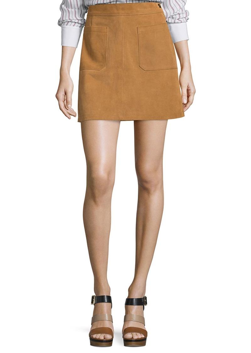 FRAME Le High A-Line Skirt  Tobacco