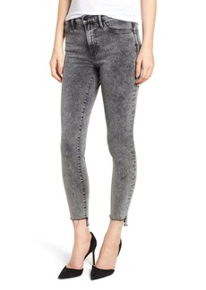FRAME Le High Acid Wash Stagger Hem Skinny Jeans (Bennington)