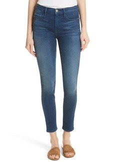 FRAME Le High Ankle Skinny Jeans (Silver Spring)