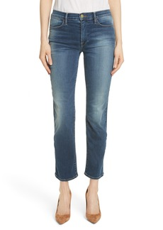 FRAME Le High Ankle Straight Leg Jeans (Woodbine)