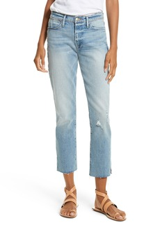FRAME Le High Crop Straight Jeans (Surrey)