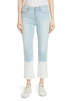 FRAME Le High Crop Straight Leg Jeans (Finchley)