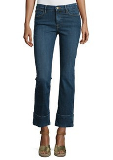 FRAME Le High Cuffed Ankle Jeans
