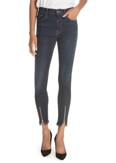 FRAME Le High Curve Split Hem Skinny Jeans (Ruffin)