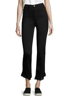 Le High Denim Straight Jeans With Frayed Hem