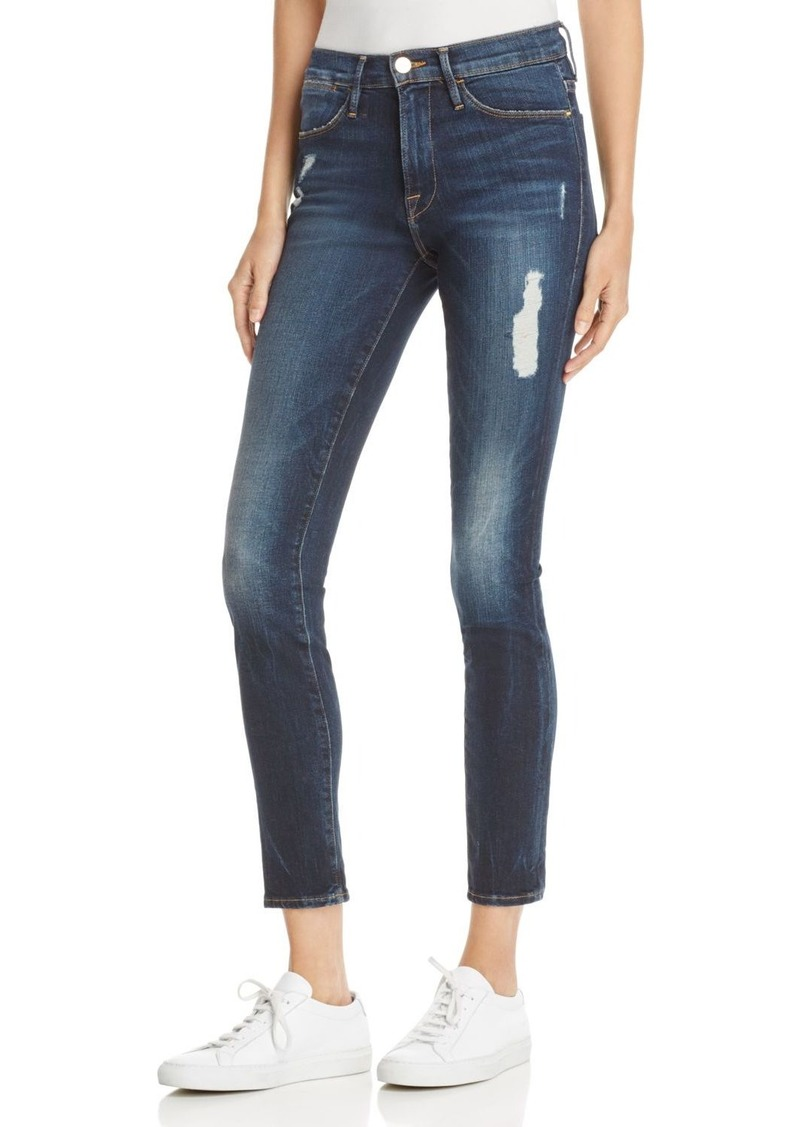 1c7dedb8fd7 FRAME FRAME Le High Distressed Skinny Jeans in Oasis | Denim