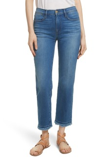 FRAME Le High Double Raw Edge High Waist Jeans (Whitway)