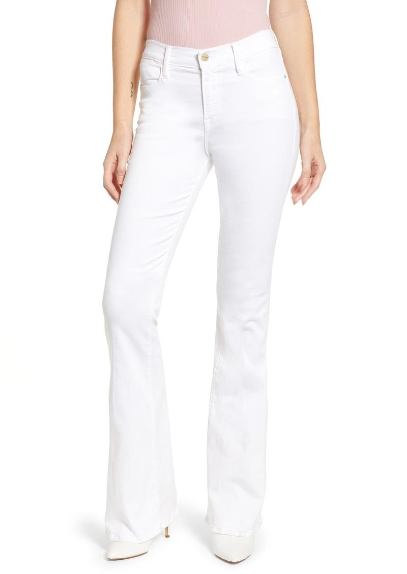 FRAME Le High Flare Jeans (Blanc)