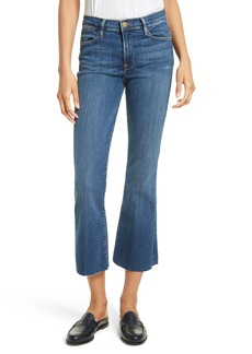 FRAME Le High Flare Raw Edge High Waist Crop Jeans (Neosho)