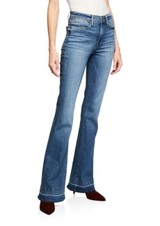 FRAME Le High Flare Wide-Leg Jeans w/ Released Hem