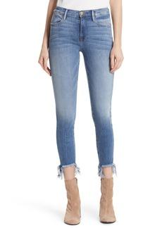 FRAME Le High Fray Hem Skinny Jeans (Garden)