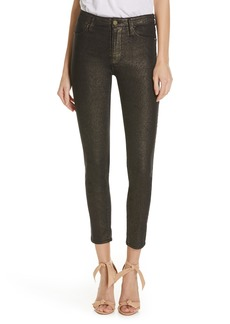 FRAME Le High Metallic Ankle Skinny Jeans (Old Gold)