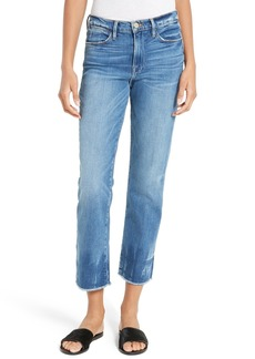 FRAME Le High Raw Edge High Waist Jeans (Merriview) (Nordstrom Exclusive)