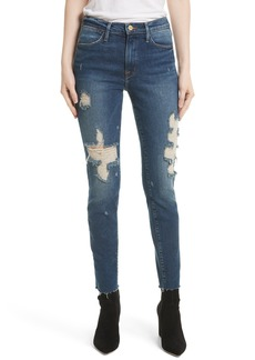 FRAME Le High Raw Edge Skinny Jeans (Enford)
