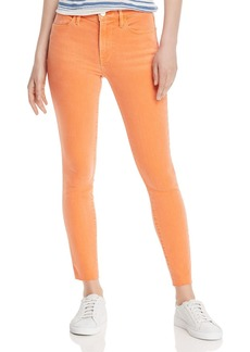 FRAME Le High Raw-Edge Skinny Jeans in Orange Crush