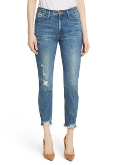 FRAME Le High Raw Edge Straight Jeans (Catmore)
