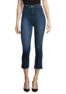 FRAME Le High Raw-Edge Straight-Leg Jeans