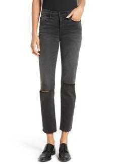 FRAME Le High Raw Edge Straight Leg Jeans (Molony)