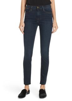 FRAME Le High Raw Hem Ankle Skinny Jeans (Fonda)