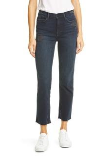 FRAME Le High Raw Hem Ankle Straight Leg Jeans (Seaway Rips)