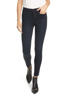 FRAME Le High Raw Hem Skinny Jeans (Byxbee)