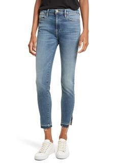 FRAME Le High Raw Hem Skinny Jeans (Revere)