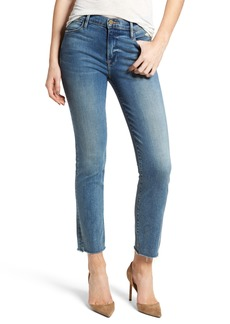 FRAME Le High Raw Hem Straight Leg Jeans (Roxton)