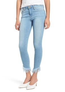 FRAME Le High Shredded Hem Skinny Jeans (Eling)