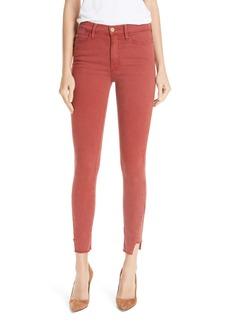 FRAME Le High Side Step Hem Skinny Jeans (Burnt Henna)