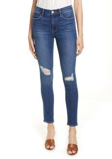 FRAME Le High Skinny Ankle Jeans (Redgrave)