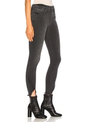 FRAME Le High Skinny Asymmetrical Fray