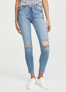 FRAME Le High Skinny Button Fly Jeans