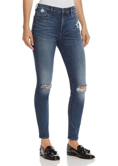FRAME Le High Skinny Distressed Jeans in Magellan