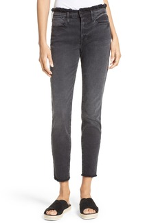 FRAME Le High Skinny Frayed High Waist Jeans (Cottonwood) (Nordstrom Exclusive)