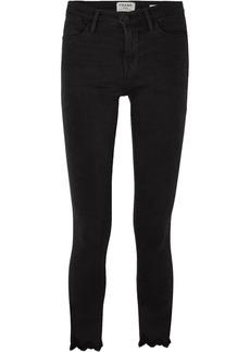 FRAME Le High Skinny frayed jeans